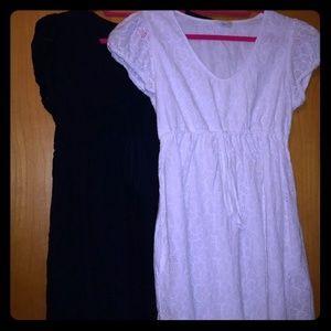 2 C&C California Summer Eyelet Dresses Medium